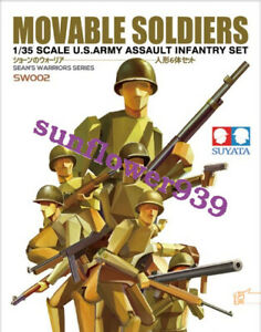 Suyata-SW-002-1-35-Assembled-Mobile-American-Infantry-Free-Glue-Separation