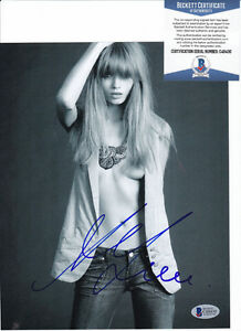 Abbey-Lee-Kershaw-Sexy-Model-Signed-Autograph-8x10-Photo-Beckett-BAS-COA-1