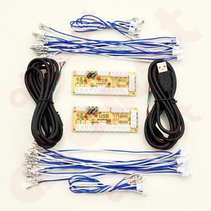 Zero-Delay-Arcade-USB-ENCODER-PC-TO-JOYSTICK-FOR-2PIN-JOYSTICK-amp-4-8MM-BUTTON