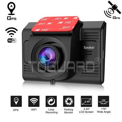 TOGUARD WiFi DashCam Auto Kamera HD 1080P w/integriertem GPS-Modul WLAN DE STOCK