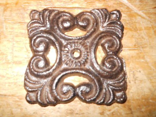 12 Cast Iron Antique Style BACK PLATE Drawer Pull Barn Handle Door Knobs PLATES