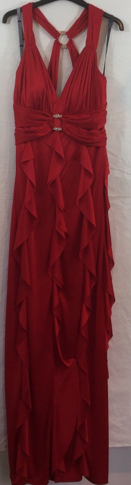PEARCE FIONDA WOMENS RED STRAPLESS Party DRESS SIZE 12