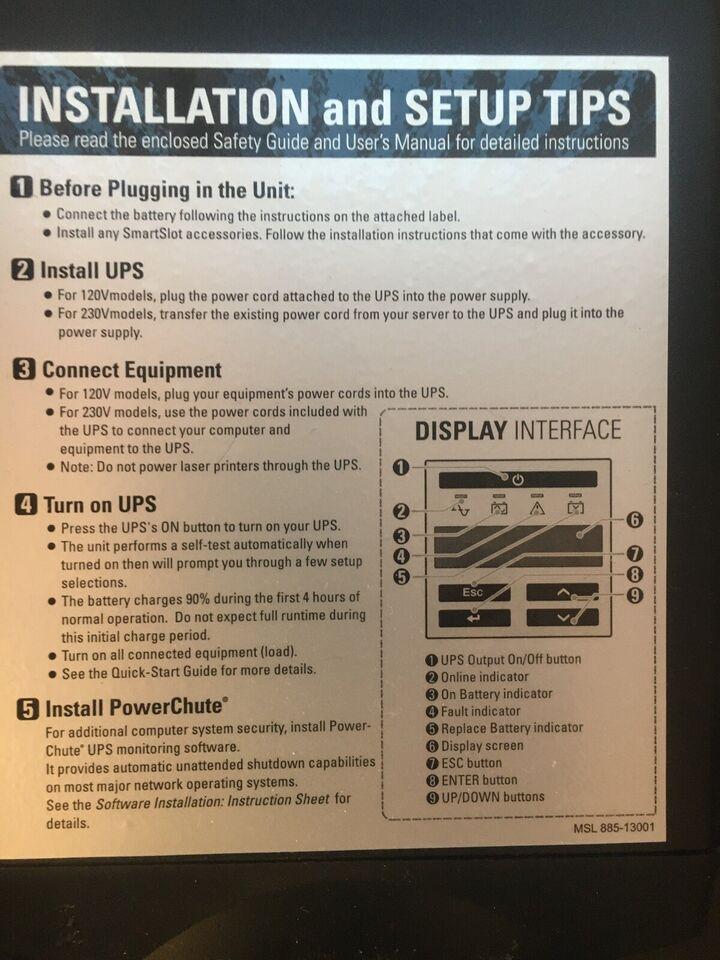 UPS, APC Smart-UPS, God