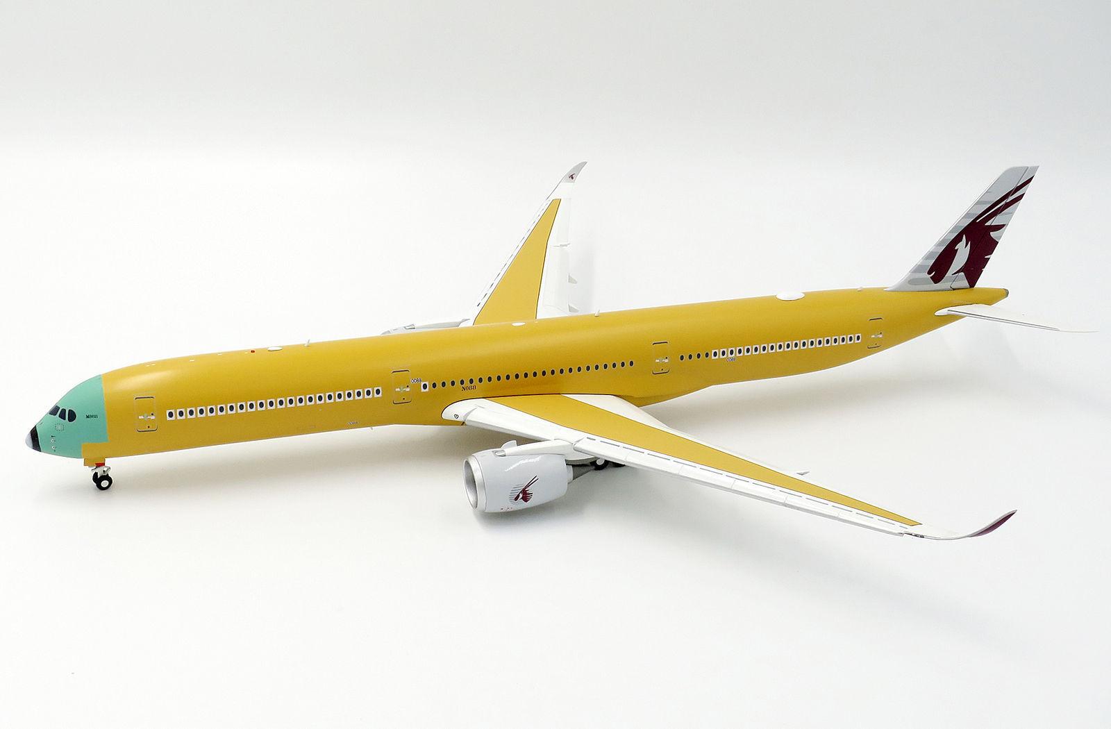 LH2089A 1/200 Katar Airways Bare Metal Airbus A350-1000 F-WZNR FLAPS DOWN W/S