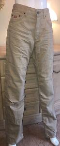 Guess-Jeans-en-coton-beige-coupe-droite-taille-31-W-x-34-L