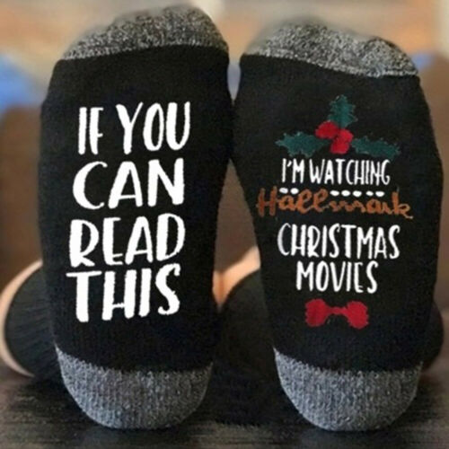 Christmas If You Can Read This Letter Unisex Elastic Middle Tube Crew Socks Fine