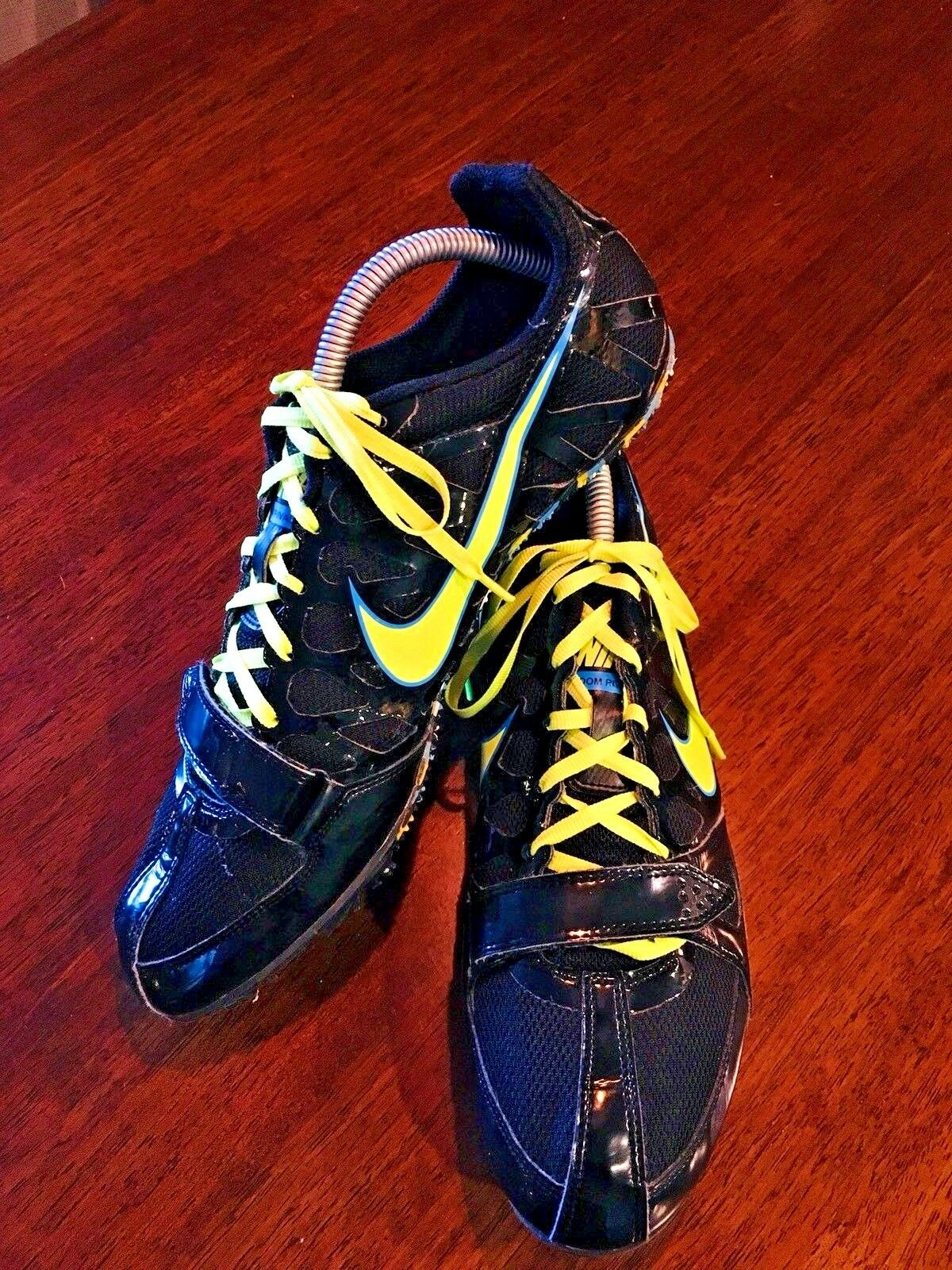 dc353a3d315b NIKE Zoom Rival Sprint 6 Spiked Spiked Spiked Running Black   Yellow  456812-070 SIZE