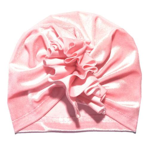 Toddler Baby Headwear Beanie Hat Kids Girls Cute Knotted Cap Turban Bow Headwrap