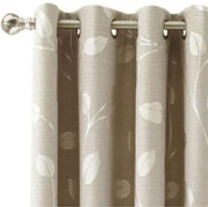 *MarthaWindow Hampton Leaf Grommet-Top Curtain Panel 50Wx95L Sullivan Khaki NEW