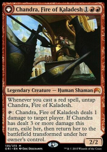 Chandra Magic MTG NearMint Fire of Kaladesh ~ Magic Origins