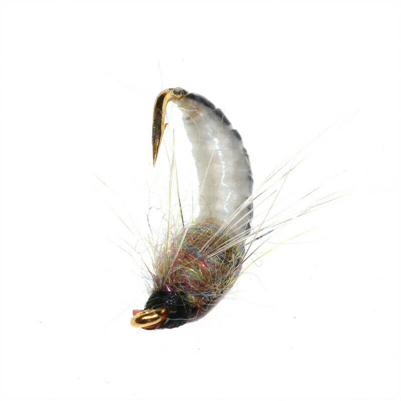 6Pcs #12 Realistic Nymph Scud Fly For Trout Fish Artificial Insect Lure V2K2