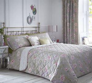oriental oiseaux floral rose violet taupe couvre lit - Couvre Lit Violet