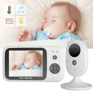 Wireless-Baby-Monitor-3-2-034-LCD-2-4G-2-Way-Audio-Video-Security-Camera-Night-View