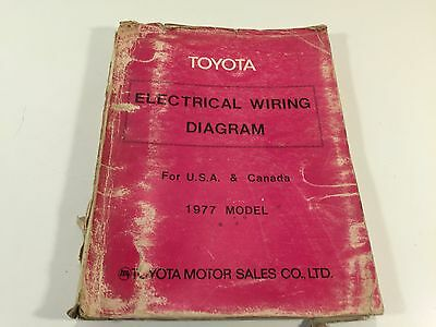 1977 Toyota Electrical Wiring Diagram for USA Canada 98889 Corolla