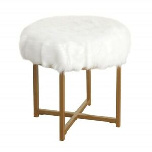 Small Vanity Stool Chair Makeup Bench Seat Bathroom Bedroom Furniture White New Ebay