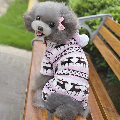 Pequeño Mascota Cachorro Perro Gato abrigo invierno Polar Con Capucha Ropa Traje
