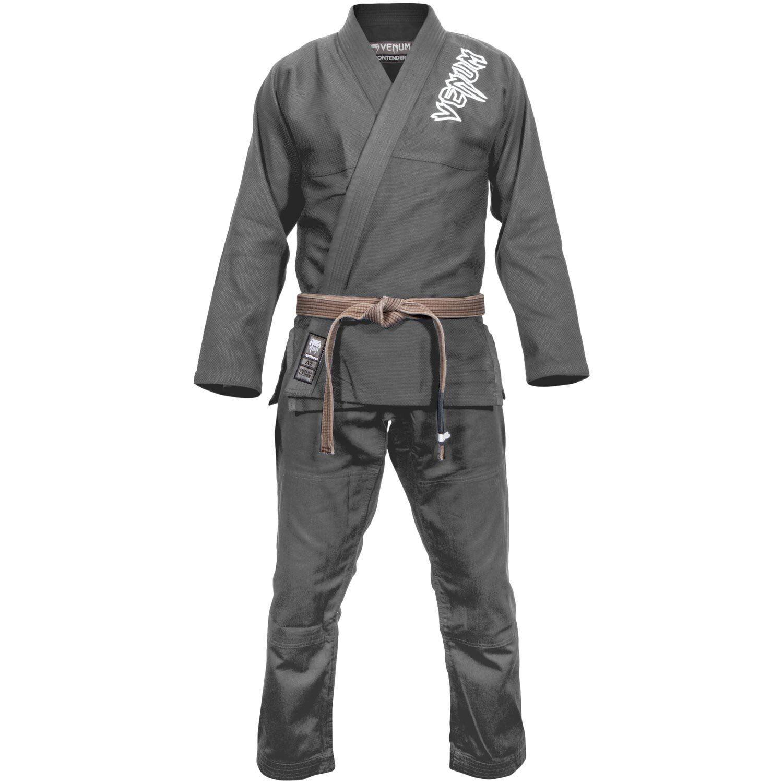 Venum Contender 2 0 BJJ Gi Grey Uniform Martial Arts Ju Jitsu Suit Jiu Training