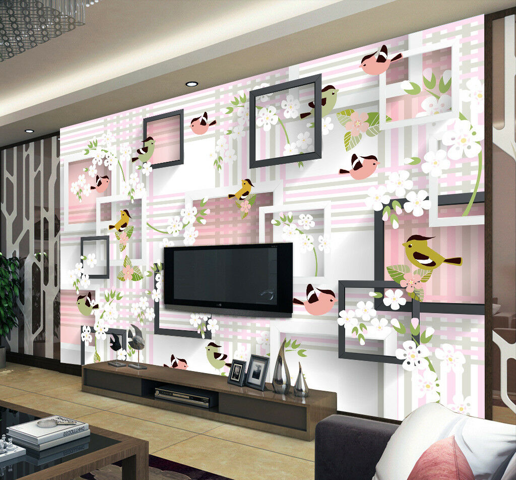 3D Birds Cartoon 5 Wallpaper Murals Wall Print Wallpaper Mural AJ WALL AU Kyra