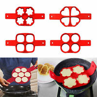 Hot 8 Styles Pancake Maker Mould Silicone Omelette Egg Ring Mold Tool