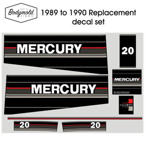 Mercury-Outboard-decals-1990-20hp-Replacement-decals