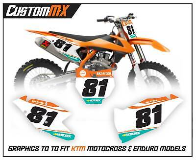 KTM 02-19 SX SXF EXC BACKGROUNDS NUMBERS GRAPHICS 85 125 150 250 300 350 450