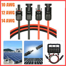 Red X 2 HQST A Pair 15ft 10AWG Solar Extension Cable w//Solar Male Female Connector,Solar Panel Adaptor Kit Tool