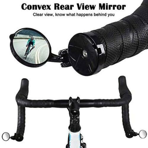 Rotary Handlebar Glass Plug Rear View Mirror Road Bike Bicycle Universal