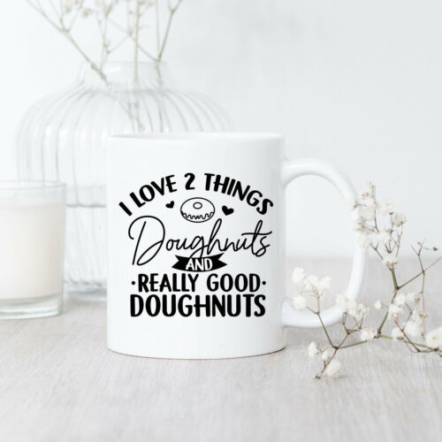 I Love Doughnuts Mug Donut Mug Doughnut Lover Donut Coffee Mug Baker Gift Sweets