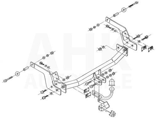 Compl. Renault Laguna 5P 01-07 Attelage fixe+faisc 13b uni