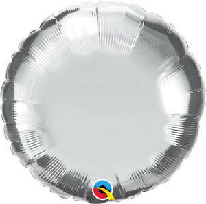 SILVER-ROUND-BALLOON-18-034-METALLIC-SILVER-PLAIN-QUALATEX-FOIL-BALLOON