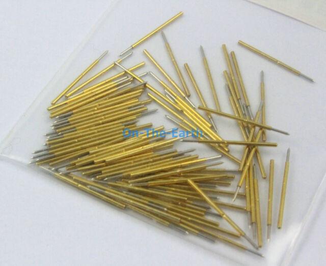 100 Pieces P50-B1 Dia 0.68mm Length 16mm Spring Test Probe Pogo Pin