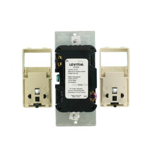Leviton IPV05-1LZ LED//CFL Universal Manual-On Occupancy Sensor