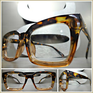 dcc74444bf Classic Vintage 50 s Retro Style Clear Lens EYE GLASSES Tortoise ...