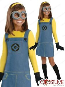 Minion Costume Toddler Baby Girls Despicable Me Halloween Fancy Dress