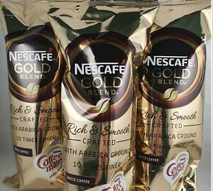 3 x Nescafe Gold Blend Instant White Coffee 7 Cups