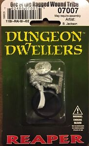 Reaper-Dungeon-Dwellers-Orc-Warrior-of-the-Ragged-Wound-Tribe-07007-Unpainted