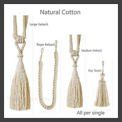 Ben Informato 1 Naturale Di Cotone Tenda Tieback Corda Chiave Nappa Per Singolo Tie-back Tie Back- Texture Chiara