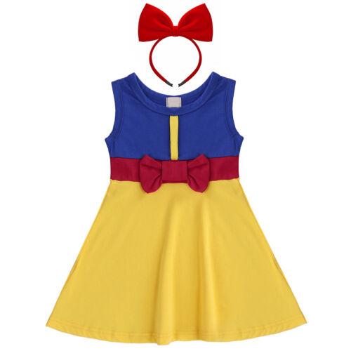 Baby Toddler Girl Snow White Mermaid Bella Princess Costume Fancy Dress Up Set