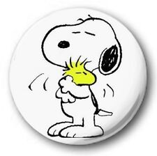 "Snoopy & Woodstock  25mm 1"" Button Badge - Kids Retro TV Charlie Brown Peanuts W"