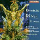 Dvorák Mass in D Major Te Deum Antonin Dvorak Audio CD