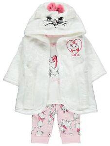 fef8262bc460b Baby Girls Disney Aristocats Marie Fleece Dressing Gown   Pyjamas 0 ...