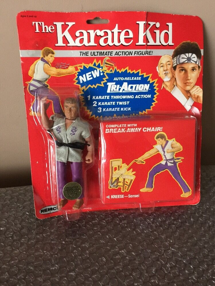 1986 Remco The Karate Kid KREESE Ultimate Action Figure On Super Rare ROT Card