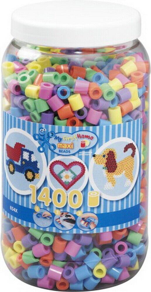 HAMA Maxi Perlen Pastell Pastell Pastell Dose 1.400 Stück 1 Set 456677