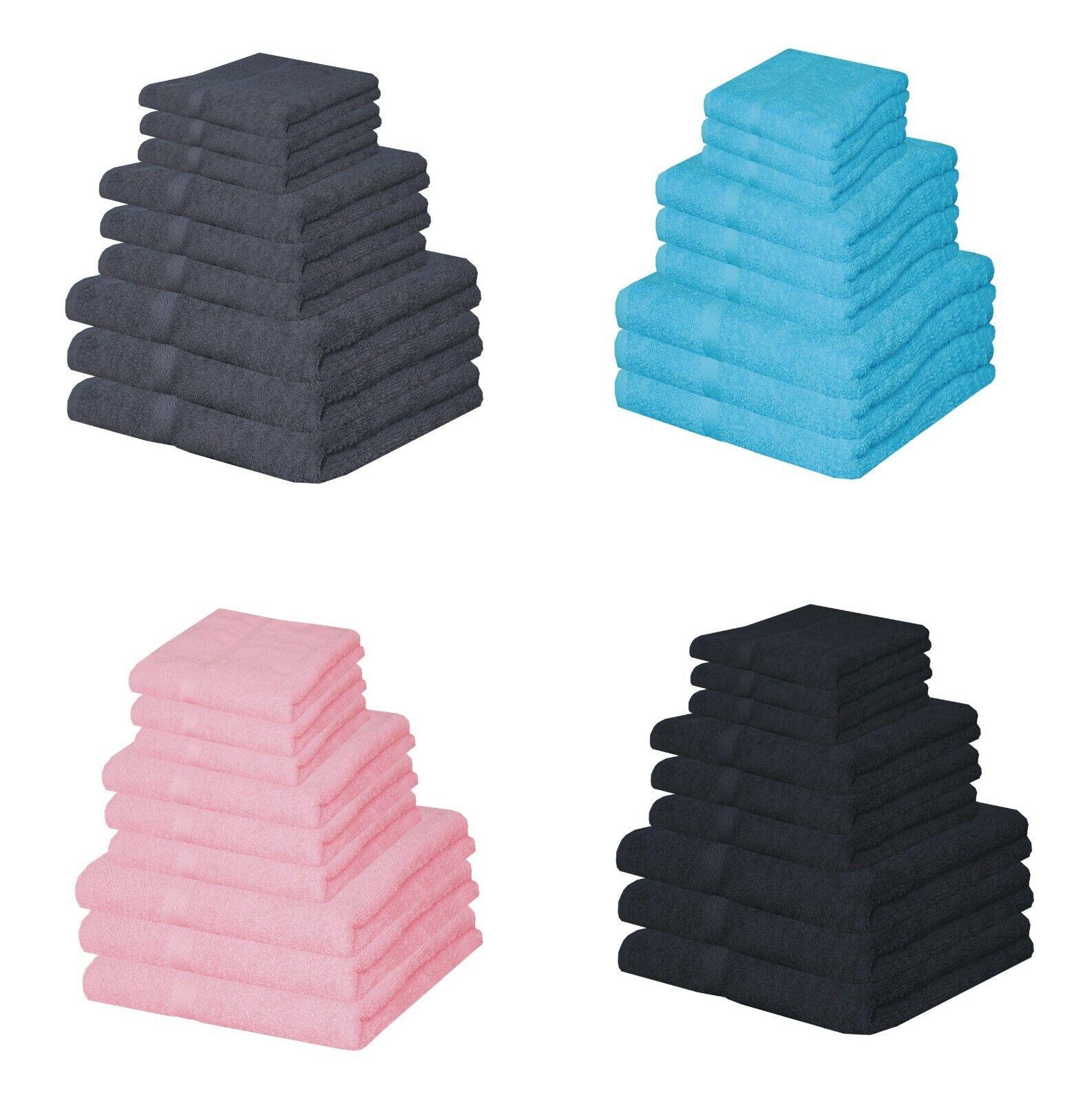 1-7 Pcs Towel Bale Set 100% Egyptian Cotton Face Hand Bath Towels Flannels Cloth