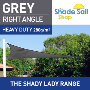 Right Angle Grey 3m X 5m X 5 8m Sun Shade Sail Heavy Duty 280gsm