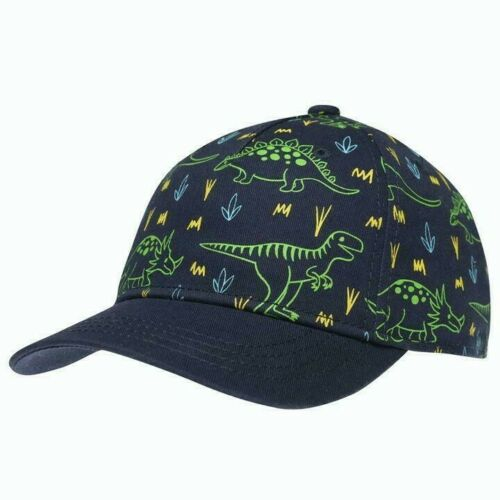 Boys Crafted Curved Peak Touch And Close Fastening All Over Print Cap