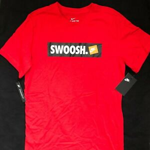 New-Nike-Sportswear-Swoosh-Logo-Tee-T-Shirt-Red-White-Black-AR5027-657-Men-039-s-XL