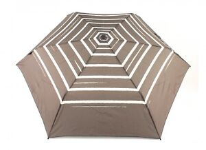 Knirps-Parapluie-Flat-Duomatic-Stripe-Art-Taupe