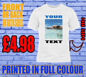 PRINTED-T-SHIRT-ADULT-PERSONALISED-UNISEX-STAG-HEN-KIDS-CUSTOM-YOUR-TEXT-PHOTO