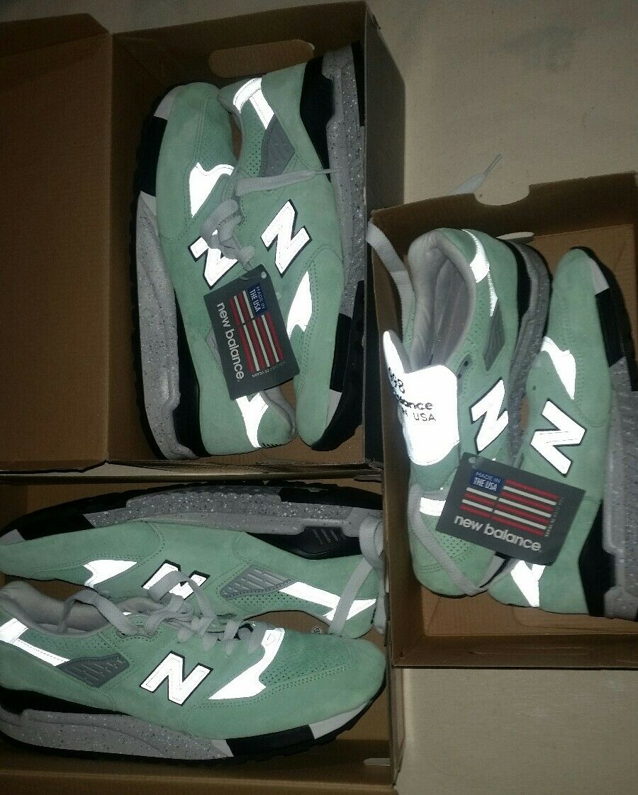 New Balance 998 USA Running shoes Mint Green Athletic Kith Sneaker Abzorb 574 997